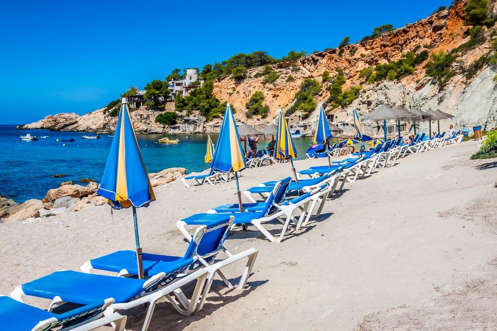 Deck Chairs over Ibiza Beach