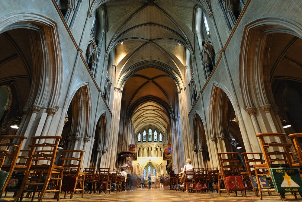 Inside St. Patrick's Cathedral in Dublin, Ireland.