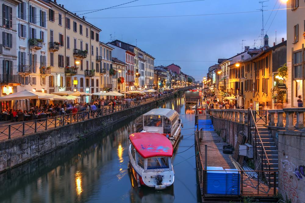 CW02_3_Evening Scene Naviglio Grande Canal