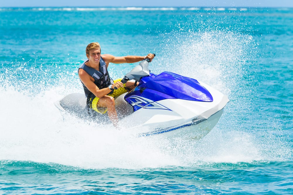 cw12_4_Young Man on Jet Ski, Tropical Ocean